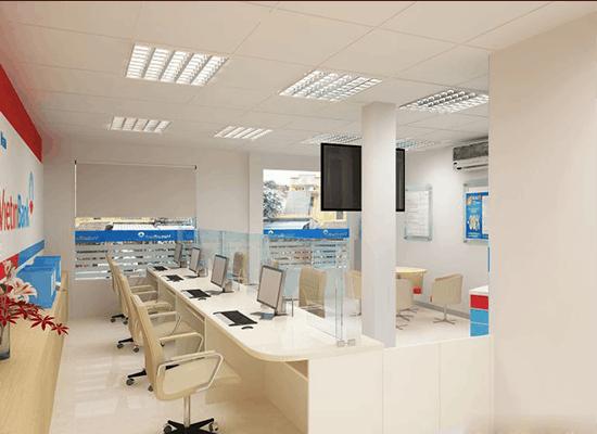 Thiết kế nội thất ngân hàng