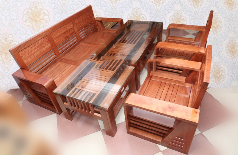 [Bàn ghế gỗ phòng khách Nhỏ] 99+ mẫu bàn ghế gỗ phòng khách đơn giản