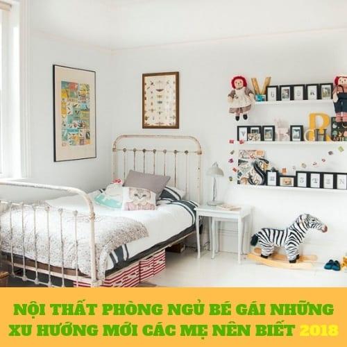 Xu hướng thiết kế nội thất phòng ngủ cho bé gái