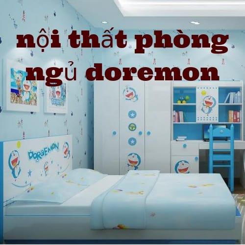 nội thất phòng ngủ doremon