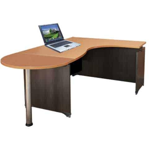 bàn văn phòng làm việc với thiết kế chữ L tiện lợi - noithathuyphat.com.vn