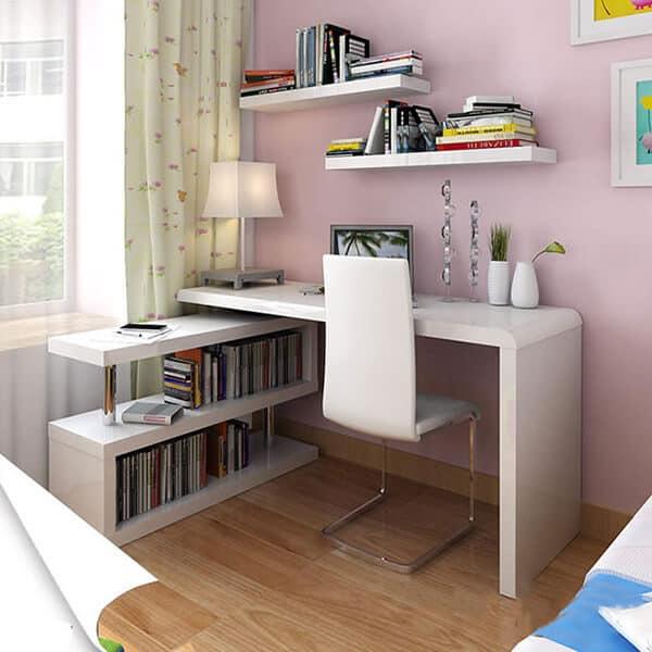 Kệ sách gỗ giá rẻ dễ dàng lắp đặt tại nhà