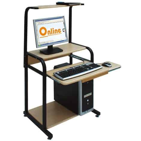 bàn máy tính khung sắt