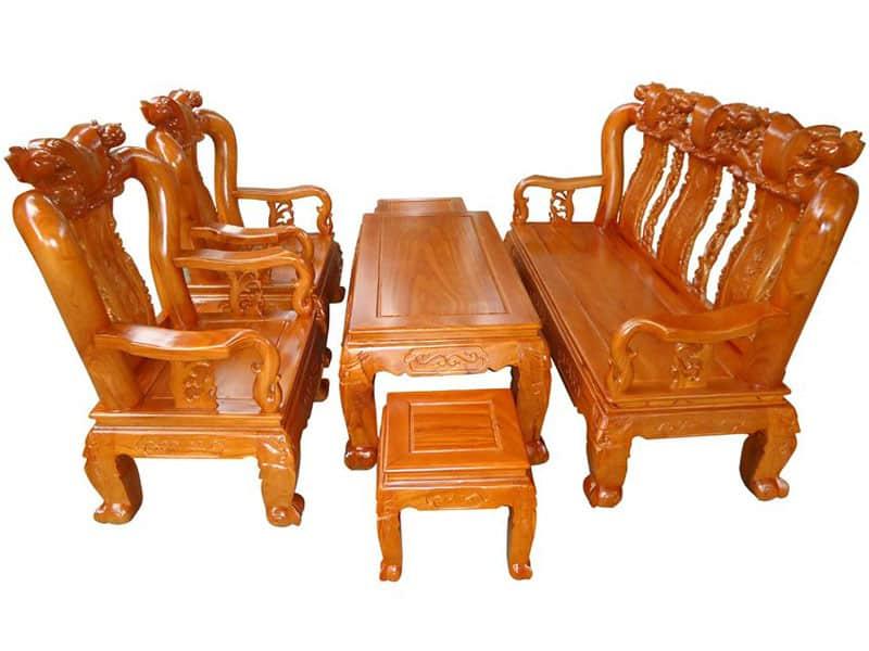Mẫu bàn ghế gỗ cho phòng khách