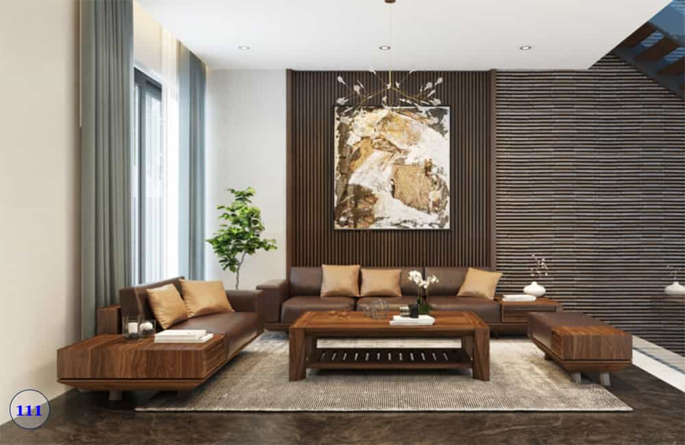 bộ bàn ghế sofa gỗ phòng khách