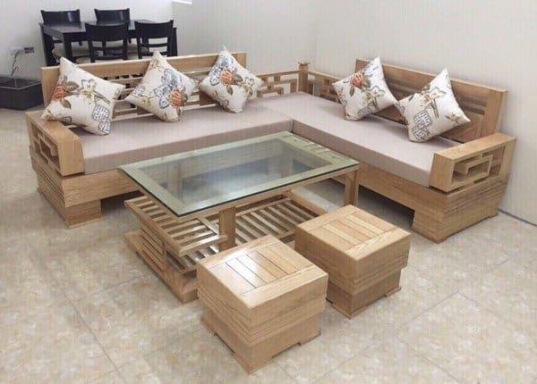 Mách bạn những mẫu bàn ghế gỗ phòng khách nhỏ gọn