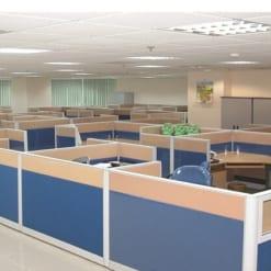 Vách ngăn văn phòng vải gỗ