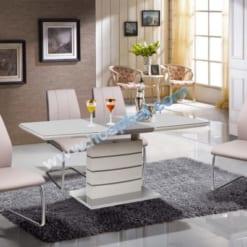 Bàn ghế tự nhiên sơn High Glossy BA124 - GA124