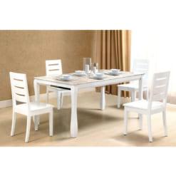 Bàn ghế tự nhiên sơn High Glossy HGB60 + HGG60