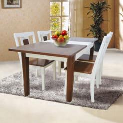 Bàn ghế tự nhiên sơn High Glossy HGB71AN4 + HGG71