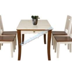 Bàn ghế tự nhiên sơn High Glossy HGB75A + HGG75