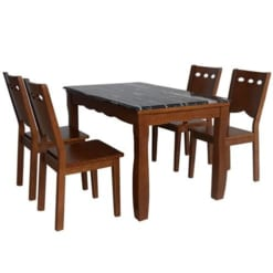 Bàn ghế tự nhiên sơn High Glossy HGB74A + HGG74